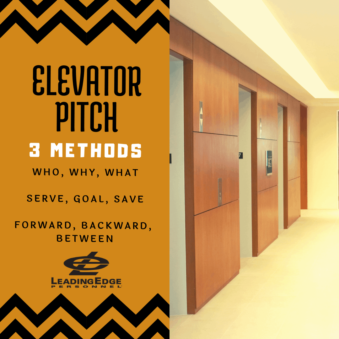 Elevator Pitch - 3 Methods