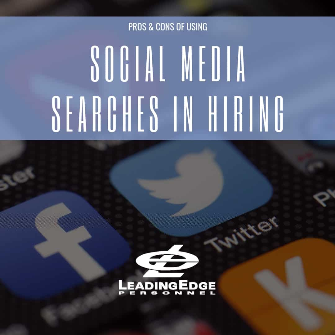 Social Media Searches in Hiring