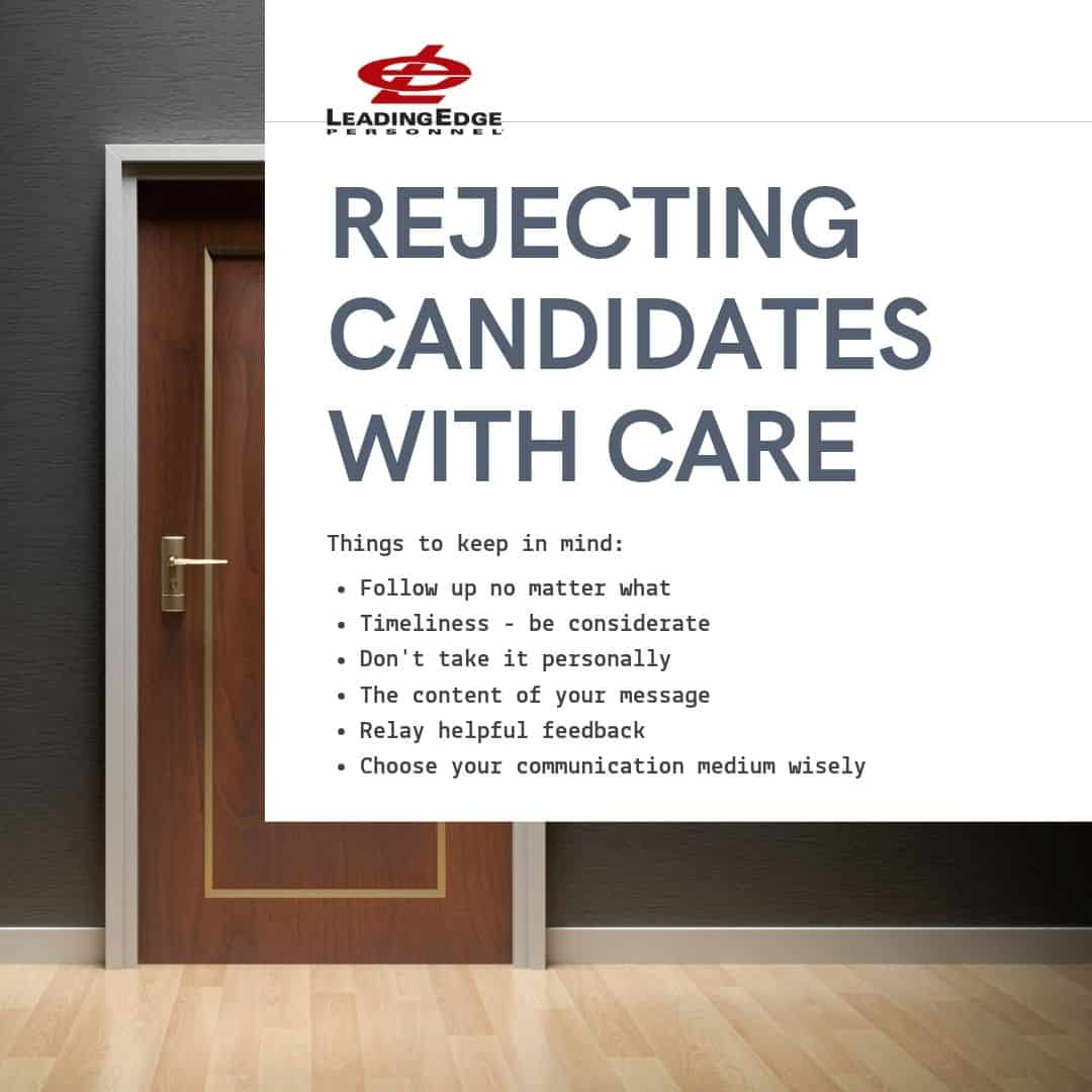 rejecting candidates what to do