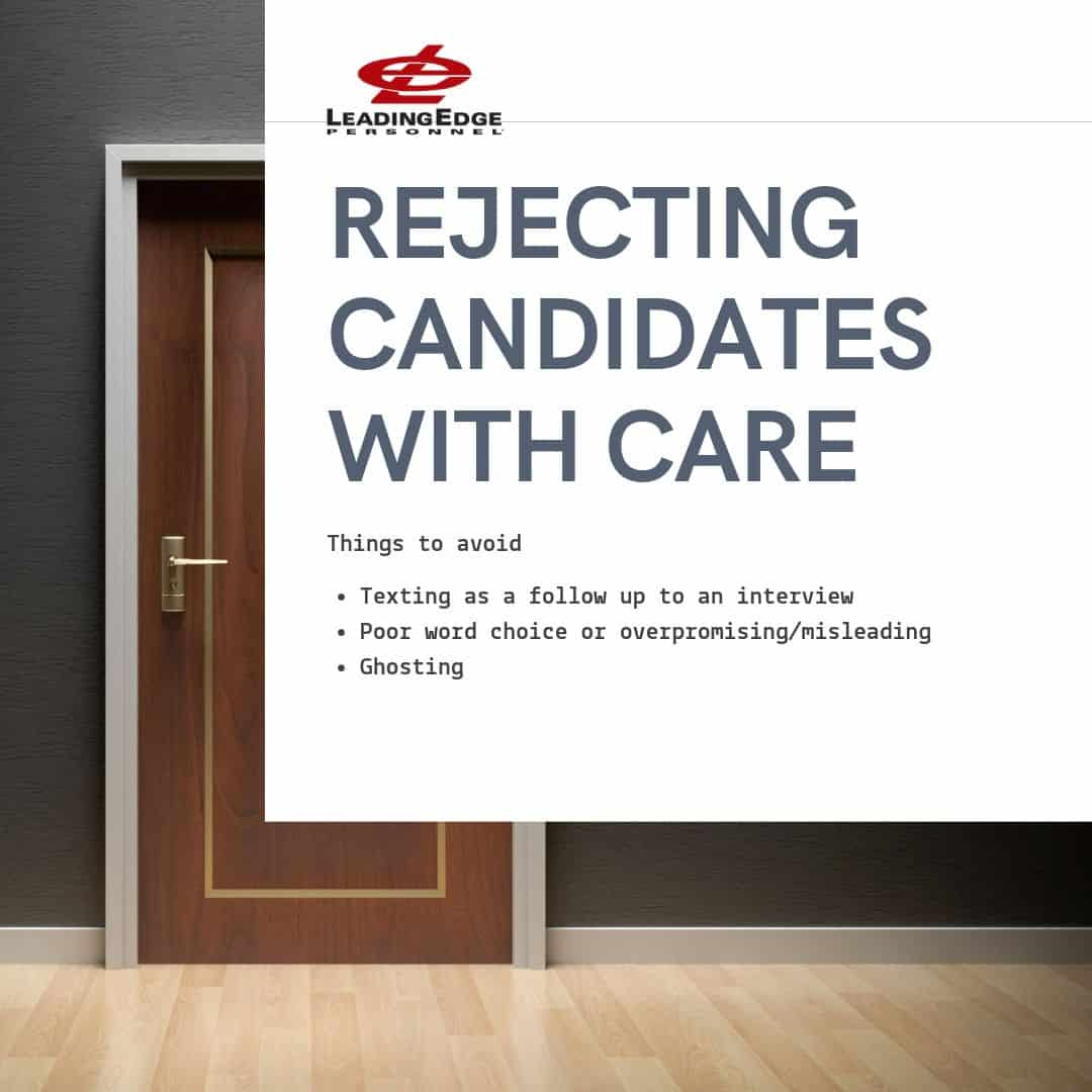 things to avoid when rejecting candidates