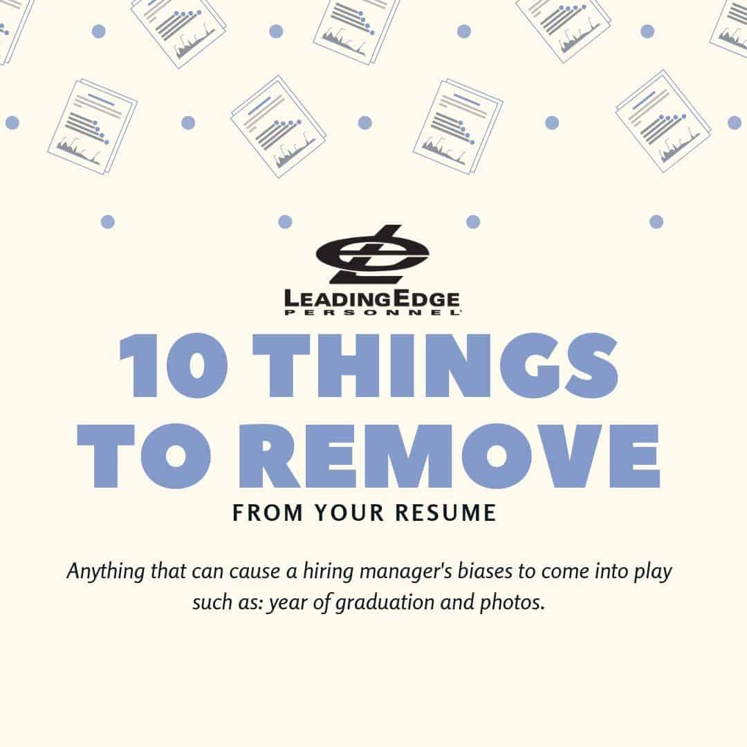 10 things to remove from your resume